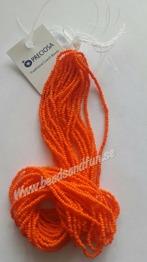 Orange Opaque - Orange Opaque HSB/93140/  11/0 = 2,1mm. Ca 400 pärlor / sträng.