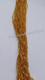 Topaz Silver-Lined - HSB/17050/ 11/0 = 2,1mm Ca 400 pärlor / sträng.