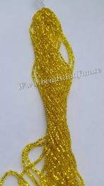 Yellow silver-Lined - HSB/87010/ 11/0 = 2,1mm Ca 400 pärlor / sträng