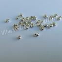 Silverpläterade pärl/knutgömmor. 50 pack