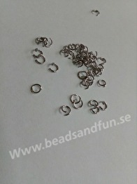5x0,7mm. 100-pack - 305 rostfritt stål. Jumprings 5 mm x 0,7 mm. 100 stk