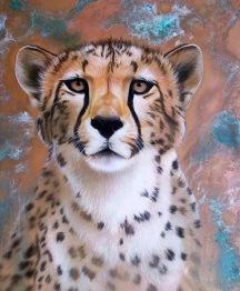 Geopard, rund, 20x25cm - Geopard