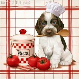 Hund pasta, rund, 20x20cm - Hund