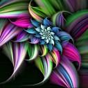 Abstrakt blomma, fyrkant, 60x45cm