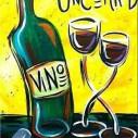 Vin konst, fyrkant, 30x40cm
