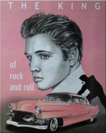 Elvis in pink, fyrkant, 50x60cm -