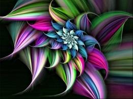 Abstrakt blomma, fyrkant, 60x45cm -