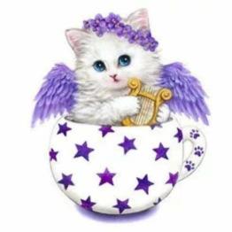 Katt i ägg, fyrkant, 20x20cm - Katt i ägg
