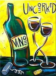 Vin konst, fyrkant, 30x40cm - Leverans V25