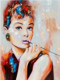 Audrey Hepburn, fyrkant, 50x65cm -