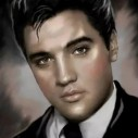Elvis svartvit, fyrkant, 30x40cm