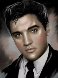 Elvis svartvit, fyrkant, 30x40cm - Elvis svartvit, fyrkant, 30x40cm