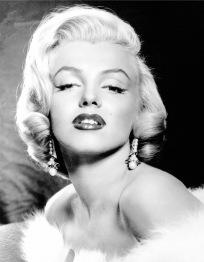 Marilyn svartvit, fyrkant, 30x40cm - Marilyn svartvit, fyrkant, 30x40cm
