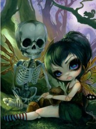 Skullgirl, fyrkant, 50x60cm - Skullgirl, fyrkant, 50x60cm