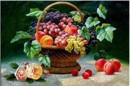 Fruktkorgen, fyrkant, 60x40cm - Fruktkorgen, fyrkant, 60x40cm