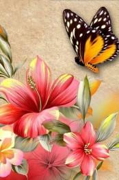 Fjärilens blomma, fyrkant, 20x25cm - Fjärilens blomma, fyrkant, 20x25cm