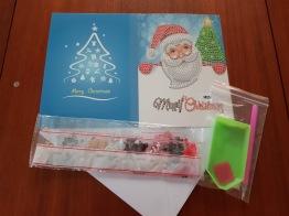 Julkort Merry Xmas - Storlek 18cm x 26cm