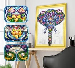 Elefant - 40x50cm