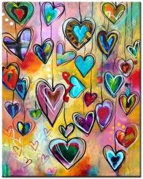 Leveranstid 1,5v - Hjärtan, fyrkant 40x50cm - Hjärtan 40x50cm