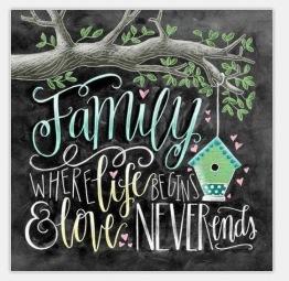 Family, fyrkant 40x40cm - Family 40x40cm