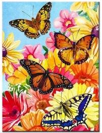 Fjärilar, fyrkant 30x40cm - Fjärilar 30x40cm