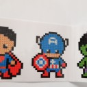 Stickers superhjältar - 9 pack