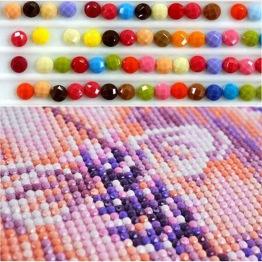 Diamant pärlor RUNDA liten påse med ca 200 stk - Diamond bead ca 200 stk i påse