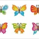Stickers fjärilar 6 pack