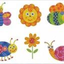 Stickers sommardjur 6 pack