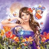 Fantasy girl, fyrkant 50x50cm