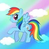 My little pony blå, rund, 20x20cm