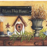 Bless this home, fyrkant 50x40cm