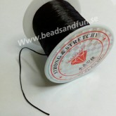 Elastisk fibertråd, svart. 0,8 mm
