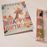 Giraff gratulationskort