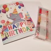 Elefant gratulationskort