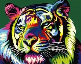 Tiger, fyrkant, 25x20cm - Tiger, fyrkant, 25x20cm