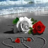 Kärlek i sand, fyrkant, 25x30cm