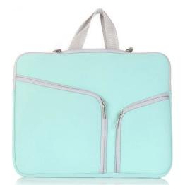 Väska till ljusplatta A4 - Mintgrön/blå