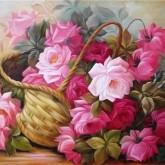 Blomsterkorg, fyrkant, 40x30cm