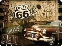 Leveranstid 1,5v - Route 66, fyrkant, 50x40cm - Route 66, fyrkant, 50x40cm