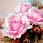 Leveranstid 1,5v - Rosor rosa, fyrkant 50x40cm