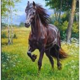Leveranstid 1,5v - Häst, fyrkant 55x70cm