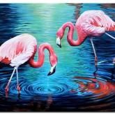 Leveranstid 1,5v - Flamingos, fyrkant 65x50cm
