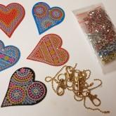 Nyckelring 5 pack hjärtan