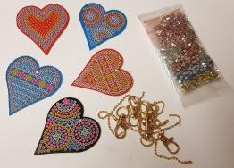 Nyckelring 5 pack hjärtan - Nyckelring 5 pack hjärtan