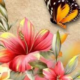 Fjärilens blomma, fyrkant, 20x25cm