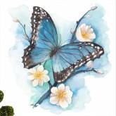 Fjäril, fyrkant, 50x50cm