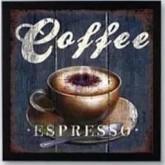 3 serie coffee, fyrkant 40x40cm