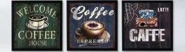 3 serie coffee, fyrkant 40x40cm - 3 serie coffee 40x40cm fyrkantig pärla