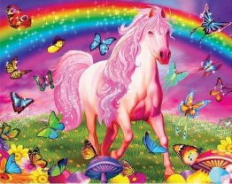 Unicorn, fyrkant, 80x60cm - Unicorn 80x60cm fyrkantig pärla